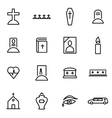 thin line icons - funeral vector image vector image