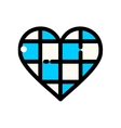 Thin line Oktoberfest Heart vector image vector image