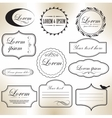 Vintage frame set retro background Calligraphic vector image vector image