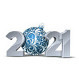 white numbers design greeting card with blue vector image