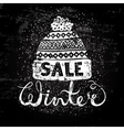 Winter Special banner or label with a knitted vector image vector image