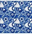 Winter strawberry pattern in Khokhloma style