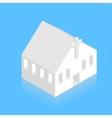 modern white isometric church on blue vector image