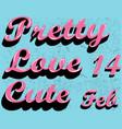 pretty font vector image