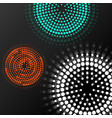 abstract background with colorful dotted circles vector image