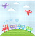 Aircrafts and train vector image vector image