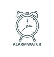 alarm watch line icon alarm watch outline vector image vector image