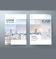 annual report brochure flyer book cover template vector image vector image