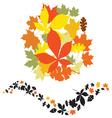 autumn decor elements vector image vector image