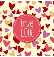 background from hearts to valentines day vector image vector image