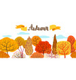 banner with autumn stylized trees vector image vector image