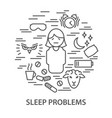 banners for sleep problems vector image vector image
