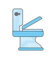 bathroom toilet isolated vector image