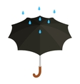 Black umbrella with rain icon isometric 3d style vector image vector image