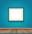 blank picture frame in room interior vector image vector image