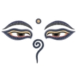 Buddha eyes Nepal symbol of wisdom and vector image vector image