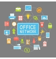 Business office networking and communication vector image vector image