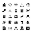 business services glyph icons set vector image vector image