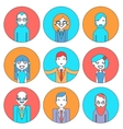 Businessman Male and Female Avatars Director vector image vector image
