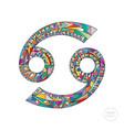 cancer zodiac sign horoscope vector image vector image