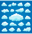 cartoon clouds collection vector image