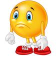 Cartoon emoticon sad vector image vector image