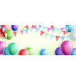 celebration cute pink background with balloons vector image vector image