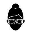 character woman head person profile image vector image