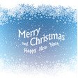 Christmas Border silhouette Isolated center area vector image vector image