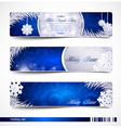 christmas festive banners vector image vector image