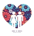 colorful bouquet flowers couple in love vector image vector image