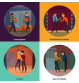 criminals concept icons set vector image vector image
