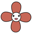 cute flower kawaii character vector image