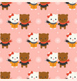 cute polar bear christmas seamless pattern theme vector image vector image