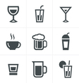 Drink Icons Set Design vector image vector image