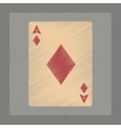 flat shading style icon playing cards vector image vector image