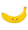 funny happy cute happy smiling banana flat vector image vector image