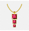 garnet jewelry icon realistic style vector image vector image