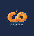 go letter with origami triangles logo creative vector image vector image
