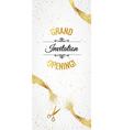 grand opening glitter white banner vector image vector image