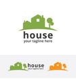 green home logo vector image