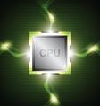 green power processor vector image