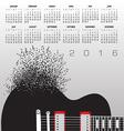 Guitar Notes 2016 Calendar vector image vector image