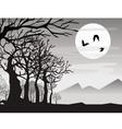 halloween bat with tree vector image vector image
