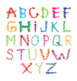 Hand drawing letters vector image vector image