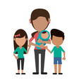 happy family united vector image