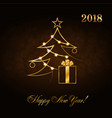 happy new year celebration abstract background vector image