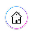 house icon on white background home symbol vector image