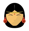 Indian women face vector image
