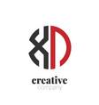 initial letter xn creative elegant circle logo vector image vector image